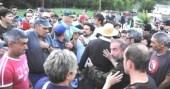 La Guardia Civil tiene que intervenir en defensa de los ecologistas. Sosas de Laciana. Agosto 2012. Losverdeslaciana.com.