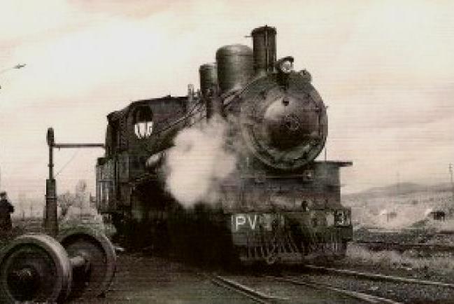 Ponfeblino. La histórica locomotora PV 31, que hacia el trayecto entre Ponferrada y Villablino.