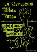 La revolución será en defensa de la tierra... o no habrá donde hacerla'. Tomalatierra.org.