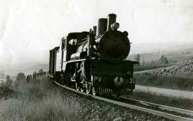 Locomotora PV 31 que realizaba el trayecto entre Ponferrada y Villablino. Leonoticias.com.