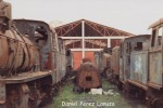 Ponfeblino. Locomotoras abandonadas en Ponferrada. Foto: Daniel Pérez Lanuza. Bierzonatura.blogspot.com.es.