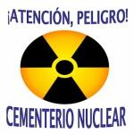 Logo. ¡Atención, peligro cementerio nuclear'. Pintegrado4bhuarte.blogspot.com.es.