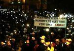 Marcha minera nocturna contra los recortes a la minería del carbón. Junio 2012. Zuialde.wordpress.com.