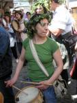 Marisa Cela, de la 'Escola de Gaitas' y también promotora de le celebración villafranquina. Villafranca del Bierzo, 1 mayo 2010. Foto: Enrique L. Manzano.