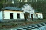 El tren Ponferrada-Villablino en Cuevas del Sil. 2009. Foto: David Zamorano.