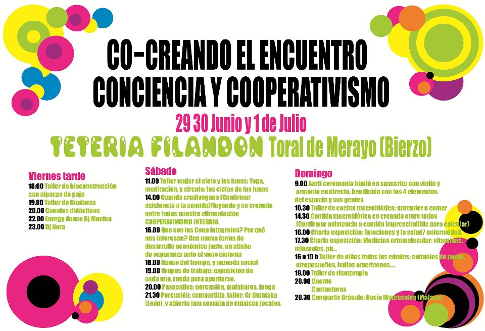 Primer Encuentro Conciencia y Cooperativismo. Toral de Merayo, 29 jun. - 1 julio 2012.