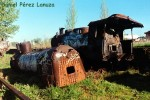 Ponfeblino. Restos de locomotoras abandonados. Foto Daniel Pérez Lanuza. Bierzonatura.blogspot.com.es. Foto: Daniel Pérez Lanuza.
