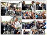 Secuencia del altercado entre los mineros y el alcalde de Ponferrada. 20 ju. 2012. Elecodelbierzo.com. Foto: María Rodríguez.