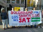 'Solidaridad con los sindlcalistas del SAT'. Foro Social de Murcia. 2012. Sindicatoandaluz.org.