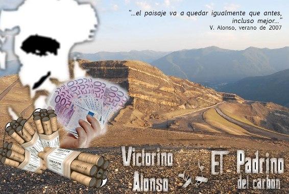 Laciana. Laciana. Victorino Alonso. Fotomontaje de denuncia de los cielos abiertos por Victorino Alonso en Laciana. 2011. Tomalaplaza.net.