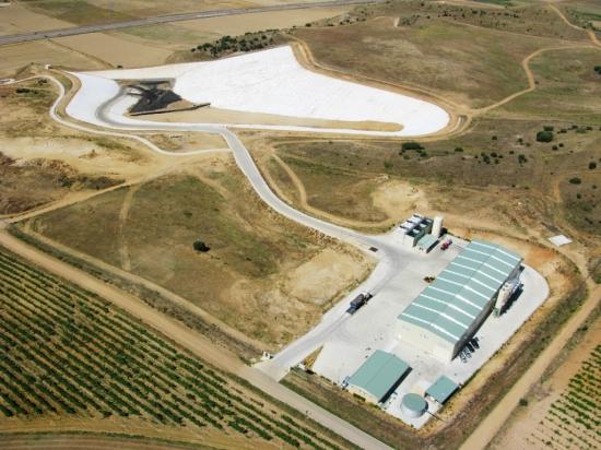 Vista aérea del CTR de Fresno de la Ribera. Urbaser.es.