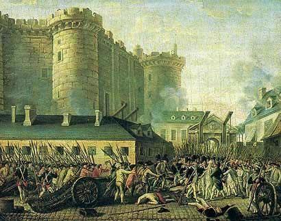 El asalto a la Bastilla. París, 24 jul. 1789. Wikipedia.org.