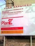 El 'Plan E' convertido por Antonio Canedo en el 'Plan Zapatero'. Camponaraya. 20 mayo 2009. Libertad digital.com.
