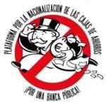 Logo. Plataforma para la Nacionalización de las Cajas de Ahorro, por una banca pública.