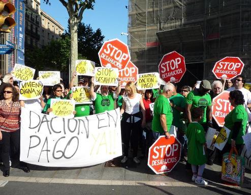 Manifestación contra los desahucios. Madrid 15 mayo 2011. Afectadosporlahipoteca.wordpress.com.