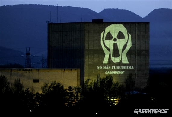 'No más fukushima'. Protesta en Garoña de Greenpeace. Greenpeace.org.