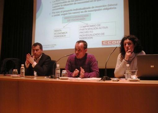 Un momento durante la presentación de la Renta Garantizada de Ciudadanía. Ponferrada, 29 marzo 2011. Foto: Enrique López Manzano.