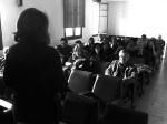 Presentacion en Ponferrada de SBP-CA, con el autor de este blog en primer plano por la derecha. Ponferrada, 21 mayo 2013. Sebuscanperiodistas.com.