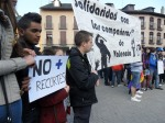 Pancarta: 'Solidaridad con los compañeros de Valencia'. Ponferrada, 29 febrero 2012. Foto: Enrique L. Manzano.