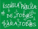 Enseñanza. Cartel. Escuela pública: de todos para todos.