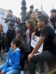 Concentración en solidaridad con los estudiantes valencianos. Ponferrada, 29 febr. 2012. Foto: Enrique L. Manzano.