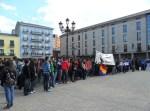 Concentración estudiantil en solidaridad con Valencia. Ponferrada, 29 febr. 2012. Foto: Enrique L. Manzano.
