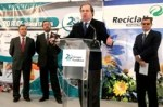Juan Vicente Herrera inagura Reciclalia. La Bañeza, 4 dic. 2009. Fundaciononce.es.
