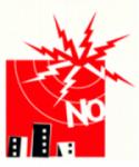 Logo. 'Antenas no'. Avfloresdelsil.blogspot.com.