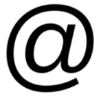 Logo. Arroba. Internet.