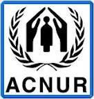 Logo de ACNUR.