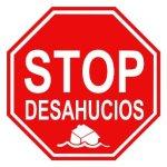 Logo. Stop desahucios. Fuente Facebook.com. PAH Madrid.