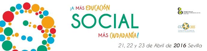 Logo. VII Congreso Estatal Educación Social. Sevilla, 21-23 abril 2016.