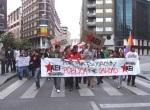 Manifestacion estudiantil por una educación pública y de calidad. Ponferrada, 22 mayo 2011. AEI. Foto: Fox.