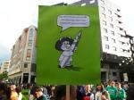 Protesta de la Marea Verde contra la Ley Wert en Ponferrada. 9 mayo 2013. Foto: Enrique L. Manzano.