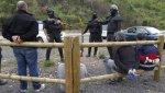 Carbón. Mineros retenidos por los antidusturbios durante la protesta minera en El Bierzo.  Jun. 2012. Facebook.com.