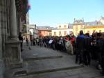 Protesta en solidaridad con los estudiantes de Valencia. Ponferrada, 29 febr. 2012. Foto: Enrique L. Manzano.