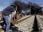 Carbón. Radicalización de la protesta minera en El Bierzo con cortes de comunicación ferroviaria.  Jun. 2012.