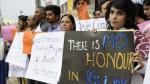 Una protesta  contra la impunidad de los crímenes de honor. 2014. Eldiario.es.