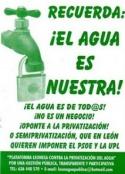Logo campaña contra la privatización del agua en León, 2009. Ramiropinto.es.