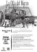Cartel. Día de la Lucha Campesina.17 abril 2011. La Olla del Bierzo.