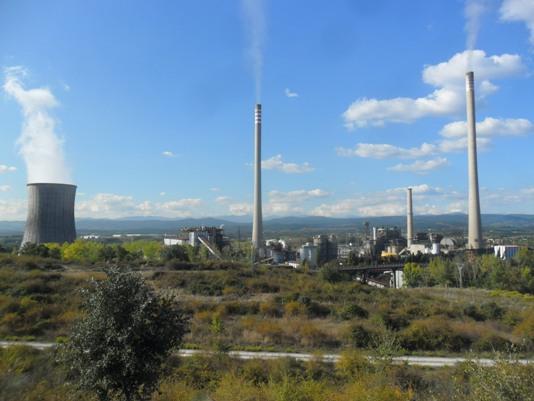 La central térmoeléctrica de Compostilla II. Cubillos del Sil, 1 oct. 2014. Foto: Enrique L. Manzano.