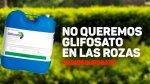 Cartel. 'No queremos glifosato en Las Rozas'. 'Change.org.