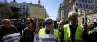 Protesta contra la expulsión colectiva a Turquía de los refugiados en Europa. Valencia, 11 marzo 2016. Levante-emv.com.
