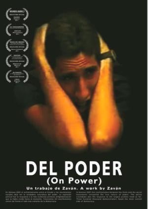 Cartel del documental  'Del Poder'. de Zaván.