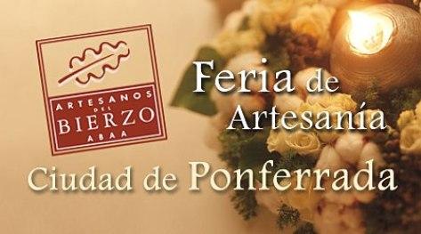 Cartel. IX Feria de Artesanía 'Ciudad de Ponferrada'.