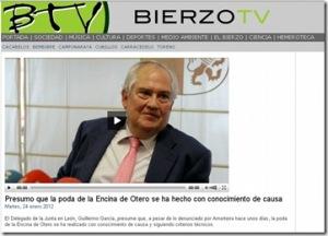 El delegado de la Junta para León, Guillermo García, entrevistado por Bierzotv.com. Af2.