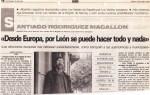 Entrevista a Santago Rodríguez Magallón. 23 mayo 94. La Crónica 16 de León (I)