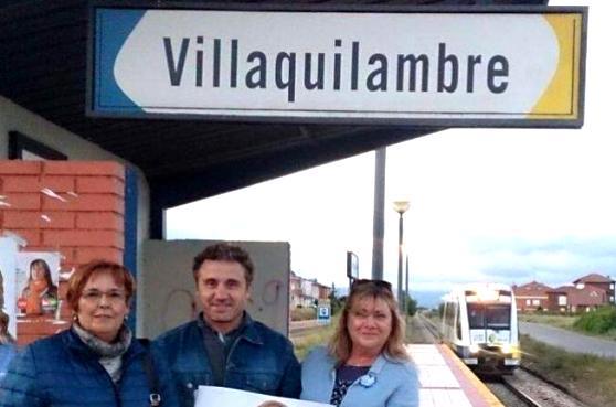 IU reclama el mantenimiento de la línea ferroviaria Feve en León. 2017.