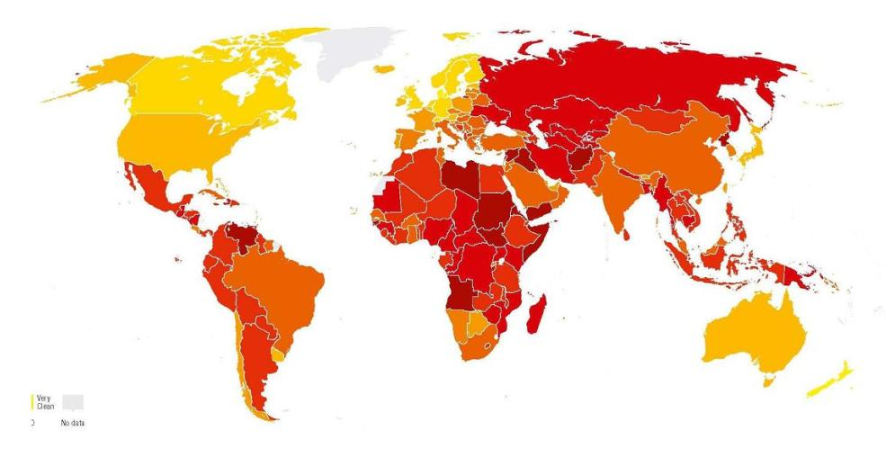 Mapa mundial de la corrupción. 2016. Tansparencia.org.es.