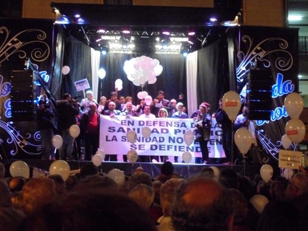 Manifestación en defensa de la sanidad pública. Ponferrada, 23 febr. 2017.